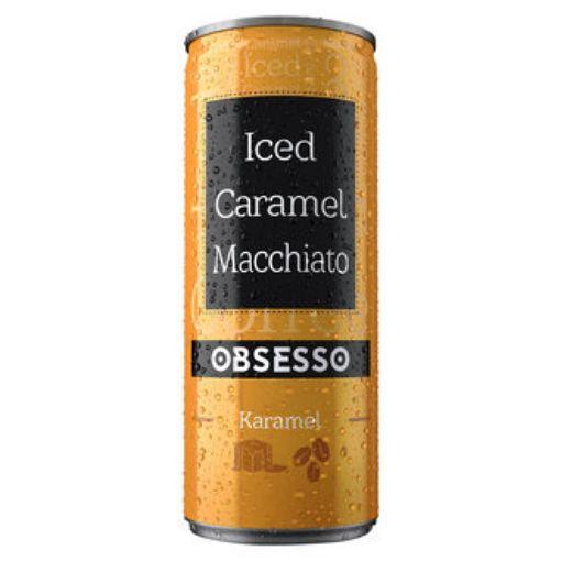OBSESSO ICED COFFEE CARAMEL MACCHIATO 250ML resmi